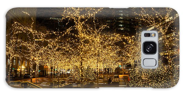 A Little Golden Garden In The Heart Of Manhattan New York City Galaxy Case