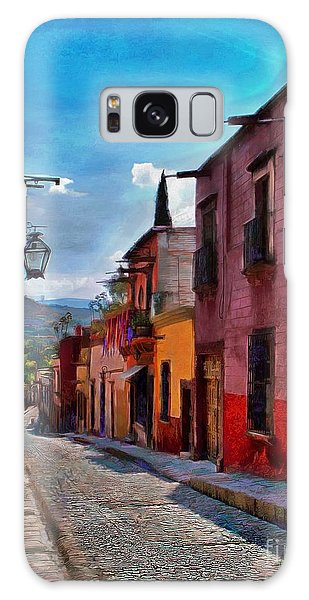 A Little Street In San Miguel Galaxy Case by John  Kolenberg