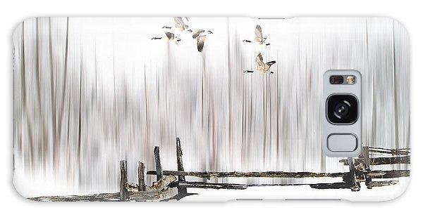 A Little Winter Magic Galaxy Case by Andrea Kollo
