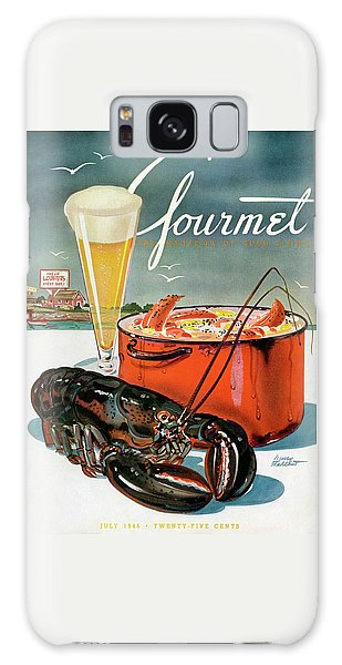 Rolling Stone Magazine Galaxy Case - A Lobster And A Lobster Pot With Beer by Henry Stahlhut
