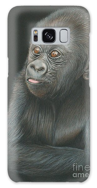 Galaxy Case - A Look Of Wonder - Baby Gorilla by Jill Parry