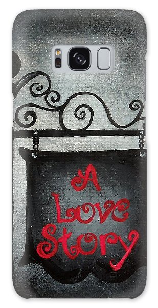 A Love Story No 10 Galaxy Case by Oddball Art Co by Lizzy Love