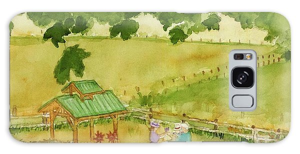 A Lovely Day At Lavender Hills Galaxy Case by Ann Michelle Swadener