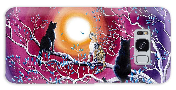 Calico Cat Galaxy Case - A Magical Autumn Night by Laura Iverson