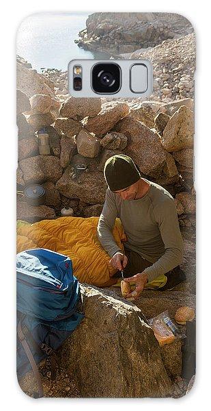 Chasm Galaxy Case - A Male Mountain Climber Getting Ready by Kennan Harvey