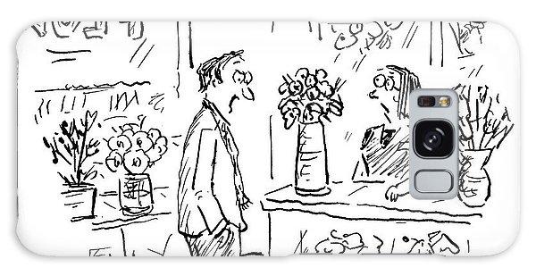 A Man Addressing A Florist Galaxy Case