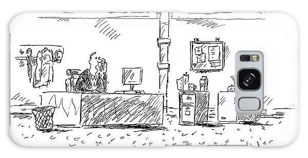 A Man In An Office Galaxy Case