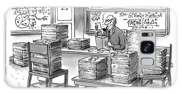 A Mathematician In A Room Full Of Stacked Papers Galaxy Case