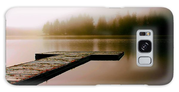 A Misty Morning On The Lake Galaxy Case by Peggy Collins