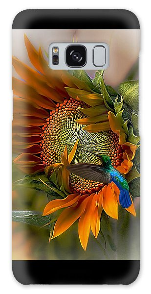 Sunflower Galaxy S8 Case - A Moment In Time by John  Kolenberg