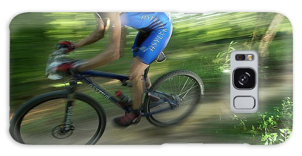 Conyers Galaxy Case - A Mountain Biker Races On A Trail by Andrew Kornylak