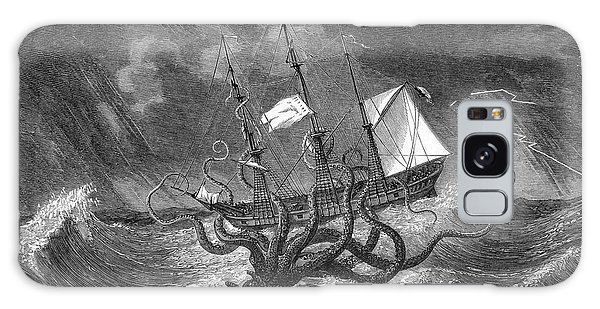 Folklore Galaxy Case - A Mythical Kraken Attacking A Sailing by Mary Evans Picture Library