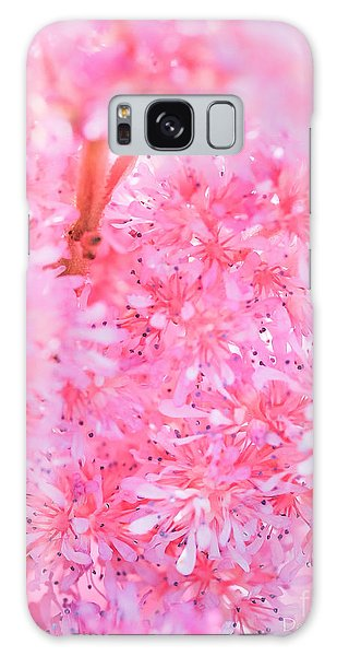 A Natural Pink Bouquet Galaxy Case