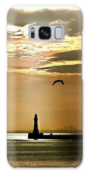 Roker Pier Sunderland Galaxy Case by Morag Bates
