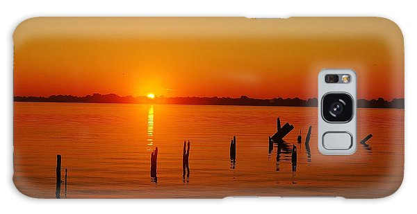 A New Day Dawns... Over Dock Remains Galaxy Case by Daniel Thompson