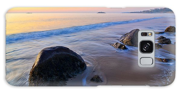 Galaxy Case featuring the photograph A New Day Singing Beach by Michael Hubley