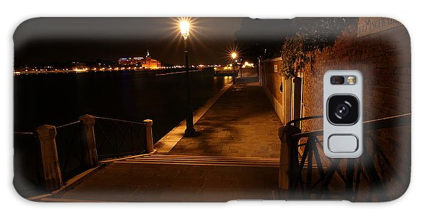 A Night Walk In Venice Galaxy Case