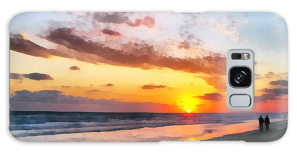 A Painting Of The Sunset At Sea Galaxy Case by Odon Czintos