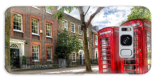 A Pair Of Red Phone Booths Galaxy Case by Tim Stanley