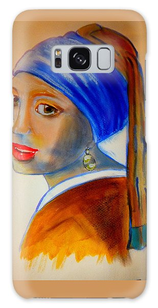 Girl With A Pearl Earring Galaxy Case - A Pastiche Of  'girl With A Pearl Earring' by Rusty Gladdish