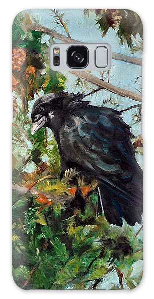 A Perch For Nevermore Galaxy Case by Pattie Wall