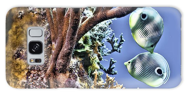 Two Butterfly Fish And Coral Reef Galaxy Case by Paula Porterfield-Izzo