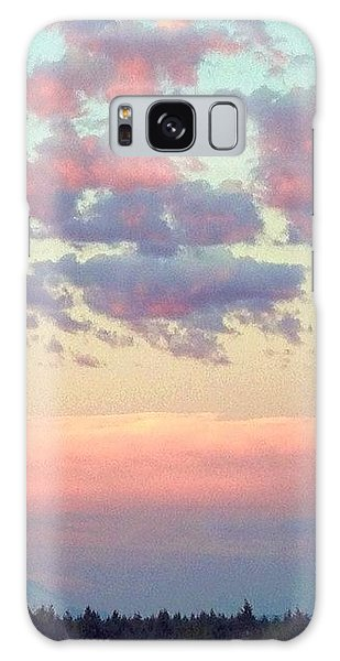 Sky Galaxy Case - Summer Evening Under A Cotton by Blenda Studio