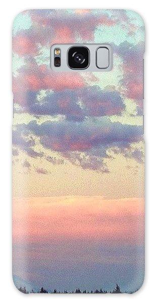 City Galaxy Case - Summer Evening Under A Cotton by Blenda Studio