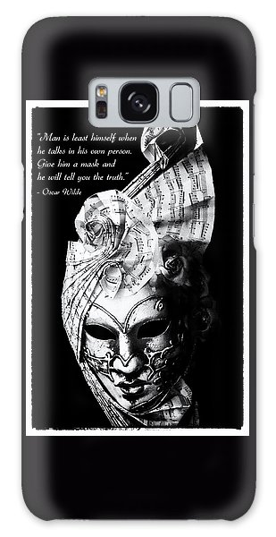 A Picture Of A Venitian Mask Accompanied By An Oscar Wilde Quote Galaxy Case