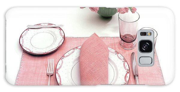 A Pink Table Setting Galaxy Case