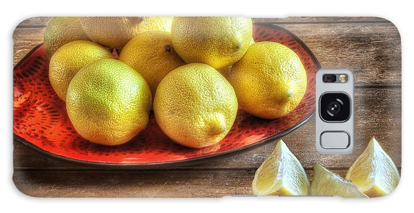 Fashion Plate Galaxy Case - A Plate Of Lemons In The Kitchen by Wendy Thompson