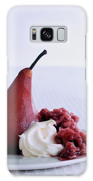 A Poached Pear With Cream Galaxy Case