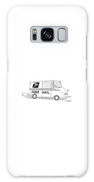 A Postal Truck Has The Phrase Junk Mail Galaxy Case