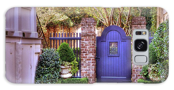 A Private Garden In Charleston Galaxy Case by Kathy Baccari