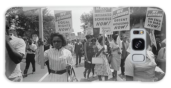 March On Washington Galaxy Case - A Procession Of African Americans by Stocktrek Images