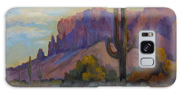 A Proud Saguaro At Superstition Mountain Galaxy Case