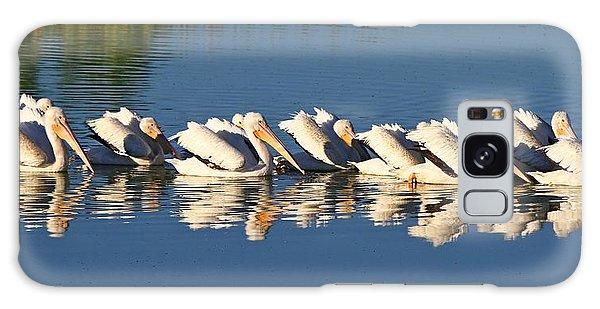 A Raft Of Pelicans Galaxy Case