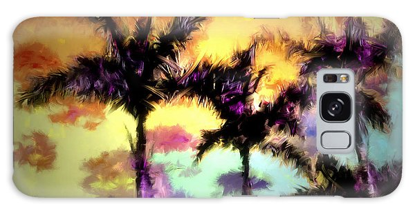 A Rainbow Of Palms Galaxy Case