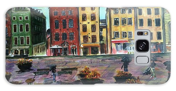 A Rainy Day In Gamla Stan Stockholm Galaxy Case by Belinda Low