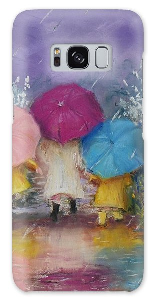 A Rainy Day Stroll With Mom Galaxy Case