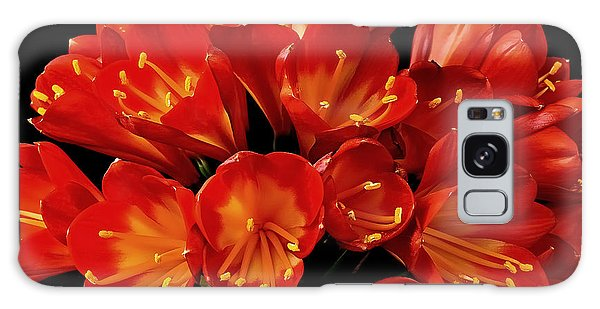 A Red Bouquet Galaxy Case