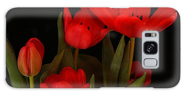 A Red Tulip Day Galaxy Case