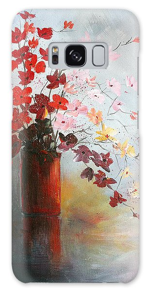 A Red Vase Galaxy Case