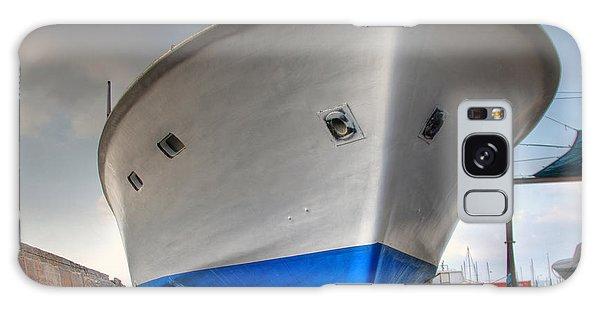 a resting boat in Jaffa port Galaxy Case