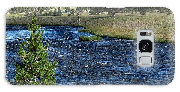 A River Runs Through Yellowstone Galaxy Case by Laurel Powell