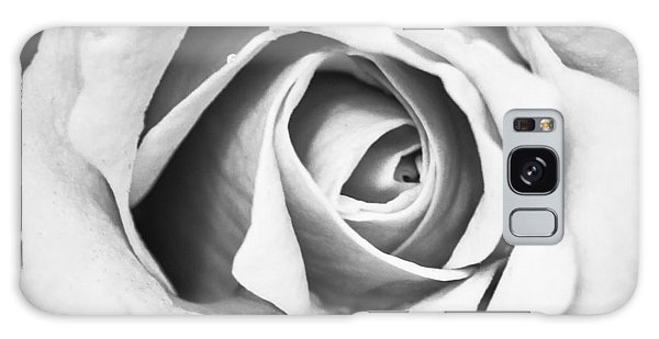A Rose In Black And White Galaxy Case by Wade Brooks