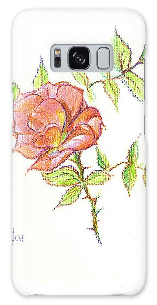 A Rose In Brigadoon Galaxy Case by Kip DeVore