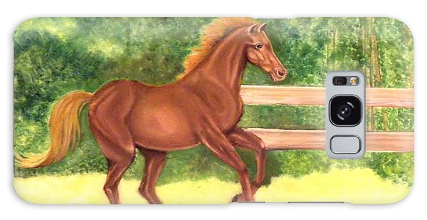 A Running Horse Galaxy Case