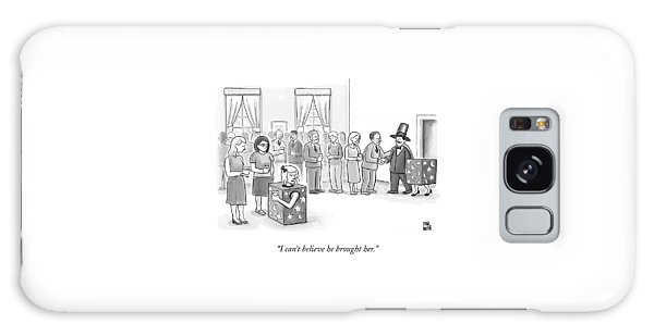 A Sawed-in-half Magician's Assistant Scowls Galaxy Case by Paul Noth