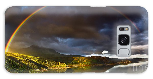 Heather Galaxy Case - A Scottish Highland Rainbow Kylesku by John Farnan